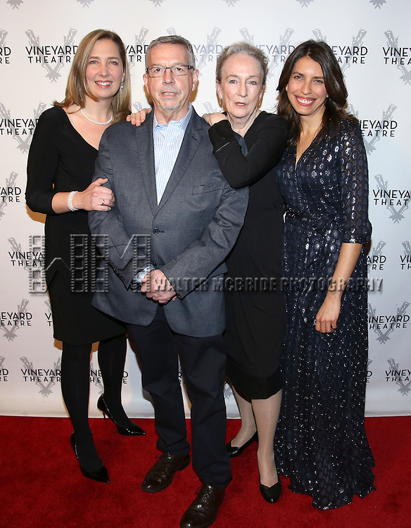 Jennifer Garvey Blackwell, Sam Rudy, Kathleen Chalfant and Sarah Stern attends the cocktail party for the Vineyard Theatre 2016 Gala at the Edison Ballroom on March 14, 2016 in New York City.