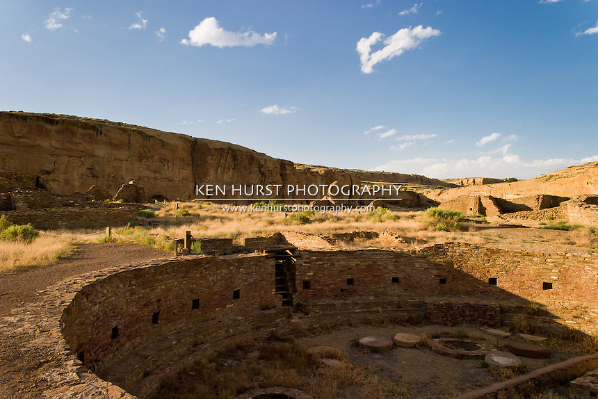 The Chetro Ketl great kiva in Chaco Culture National Historical Park, New Mexico.