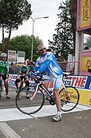 TERAMO: ARRIVO DI TAPPA DEL GIRO D'ITALIA. NELLA FOTO FRANCESCO MOSER. FOTO DI LORETO ADAMO