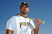 Feb 28, 2010; Bradenton, FL, USA; Pittsburgh Pirates  outfielder Garrett Jones (46) during  photoday at Pirate City. Mandatory Credit: Tomasso De Rosa/ Four Seam Images