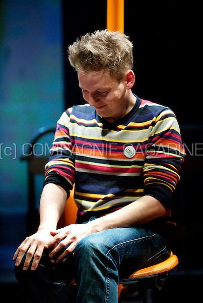 Randi De Vlieghe winning the Cultuurprijs 2008 for youth theatre, during the ceremony in Hasselt (Belgium, 02/02/2009)