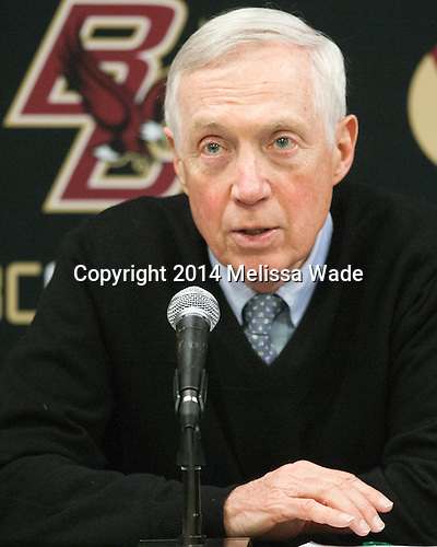 Jerry York (BC - Head Coach) - The Boston College Eagles defeated the visiting University of Michigan Wolverines 5-1 (EN) on Saturday, December 13, 2014, at Kelley Rink in Conte Forum in Chestnut Hill, Massachusetts.
