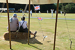 Ebernoe Horn Fair West Sussex UK. Annual cricket match on Ebernoe village Common. Ebernoe CC versus Wessex Pilgrims CC. 2015
