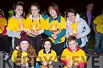 Lily O'Connor-Hallinan, Mairead and michael O'Donoghue. Back row: Megan O'Boyle, Marie, tara and Breda O'Donoghue at Nathan's walk Darkness into Light walk in aid of Pieta House in Killarney racecourse on Saturday