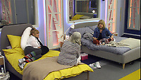 Amanda Barrie, Ann Widdecombe and Rachel Johnson.<br /> Celebrity Big Brother 2018 - Day 7<br /> *Editorial Use Only*<br /> CAP/KFS<br /> Image supplied by Capital Pictures
