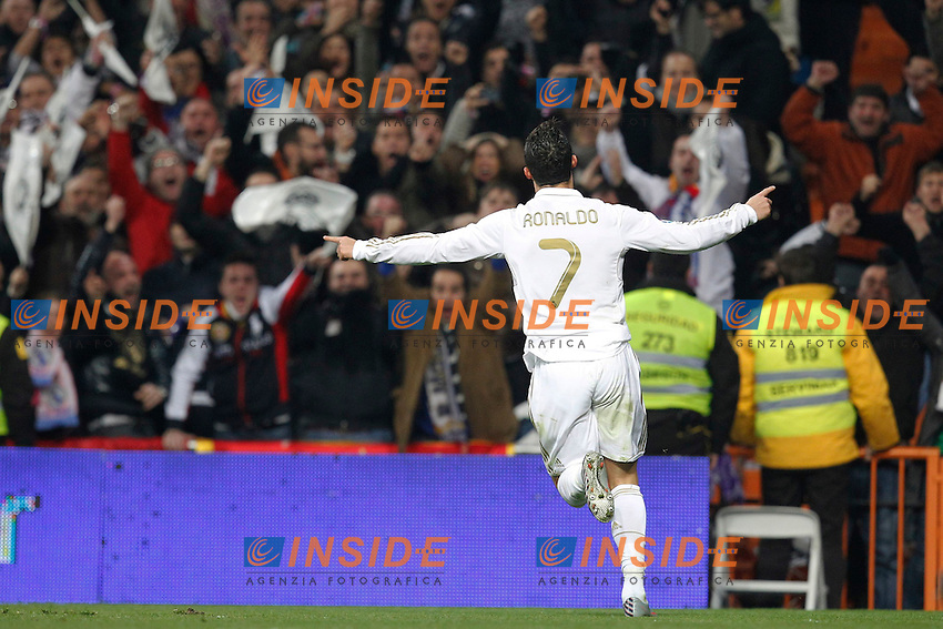 Real Madrid's Cristiano Ronaldo goal during spanish King's Cup on January 18th 2012...Photo: Insidefoto / Cesar Cebolla / Alterphotos .Real Madrid Vs Barcellona.ITALY ONLY