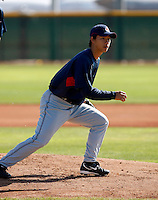 Chen-Chang Lee -  Cleveland Indians - 2009 spring training.Photo by:  Bill Mitchell/Four Seam Images