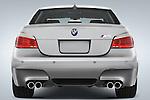 Straight rear view of a 2008 BMW Sedan