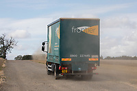 Frontier lorry delivering to a farm<br /> ©Tim Scrivener Photographer 07850 303986<br />      ....Covering Agriculture In The UK....