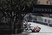May 28th 2017, Monaco; F1 Grand Prix of Monaco Race Day;  Kimi Raikkonen - Scuderia Ferrari SF70H leads the start of the race from pole but finished 2nd