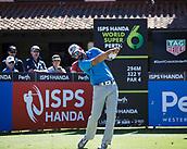 10th February 2018, Lake Karrinyup Country Club, Karrinyup, Australia; ISPS HANDA World Super 6 Perth golf, third round; James Nitties (AUS) drives