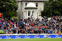 Fans on the embankment during the One Day International cricket match between the NZ Black Caps and Pakistan at the Basin Reserve in Wellington, New Zealand on Saturday, 6 January 2018. Photo: Dave Lintott / lintottphoto.co.nz