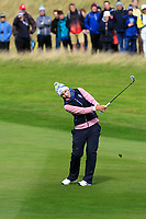Carlota Ciganda of Team Europe on the 2nd during Day 2 Fourball at the Solheim Cup 2019, Gleneagles Golf CLub, Auchterarder, Perthshire, Scotland. 14/09/2019.<br /> Picture Thos Caffrey / Golffile.ie<br /> <br /> All photo usage must carry mandatory copyright credit (© Golffile | Thos Caffrey)