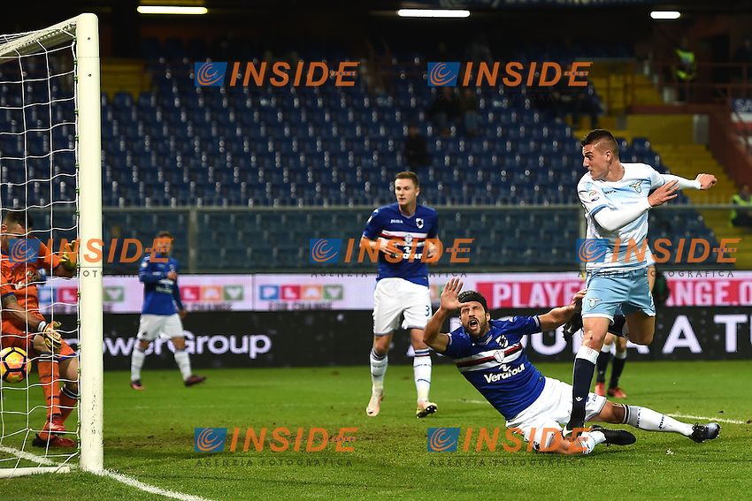 gol Sergej Milinkovic Savic Lazio Goal celebration <br /> Genoa 10-12-2016 Stadio Marassi Football Calcio Serie A 2016/2017 Sampdoria - Lazio foto Image Sport/Insidefoto