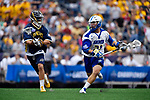 FOXBORO, MA - MAY 28: Matt Hommel (21) of the Limestone Saints during the Division II Men's Lacrosse Championship held at Gillette Stadium on May 28, 2017 in Foxboro, Massachusetts. (Photo by Larry French/NCAA Photos via Getty Images)