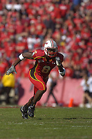 21 October 2006:  Maryland WR Darrius Heyward-Bey (8) .The Maryland Terapins defeated the N.C. State Wolfpack 26-20 October 21, 2006 at Chevy Chase Bank Field at Byrd Stadium in College Park, MD..