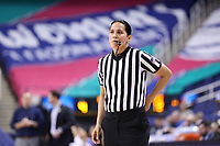 GREENSBORO, NC - MARCH 04: Official Pualani Spurlock during a game between Pitt and Notre Dame at Greensboro Coliseum on March 04, 2020 in Greensboro, North Carolina.