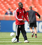 3 April 2004: Fourteen year old Freddy Adu during pregame warmups. DC United defeated the San Jose Earthquakes 2-1 at RFK Stadium in Washington, DC on opening day of the regular season in a Major League Soccer game..