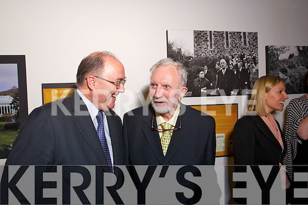 "Pictured at the exhibition ""A Quiet Holiday"" at the Irish Cultural Centre, Paris on Tuesday Evening were Paul Kavanagh, Irish Ambassador and Padraig Kennelly"