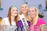 Noirin Ni Dhubhda(centre)who was picked as the 2008 queen of Feile Lughnasa last Friday night seen here with her sister Aileen(left)and Caite Ni Flathta(Rt)at the parade in Clahane Village on Sunday evening..