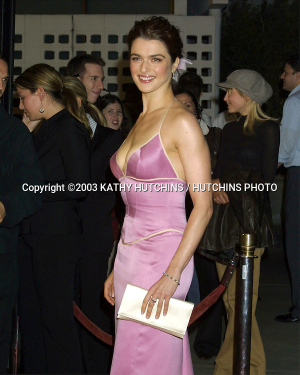 "©2003 KATHY HUTCHINS / HUTCHINS PHOTO.LA PREMIERE OF ""RUNAWAY JURY"".LOS ANGELES, CA.OCTOBER 9, 2003..RACHEL WEISZ"