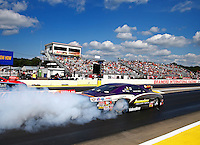 Aug 15, 2014; Brainerd, MN, USA; NHRA pro stock driver Vincent Nobile during qualifying for the Lucas Oil Nationals at Brainerd International Raceway. Mandatory Credit: Mark J. Rebilas-