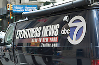 An ABC 7 TV news car is parked in New York financial district, NY, Thursday August 4, 2011.