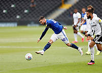 4th July 2020; Craven Cottage, London, England; English Championship Football, Fulham versus Birmingham City; Scott Hogan of Birmingham City taking a shot on goal
