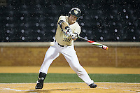 Ben Breazeale (39) of the Wake Forest Demon Deacons at bat against the Davidson Wildcats at David F. Couch Ballpark on February 28, 2017 in Winston-Salem, North Carolina.  The Demon Deacons defeated the Wildcats 13-5.  (Brian Westerholt/Four Seam Images)