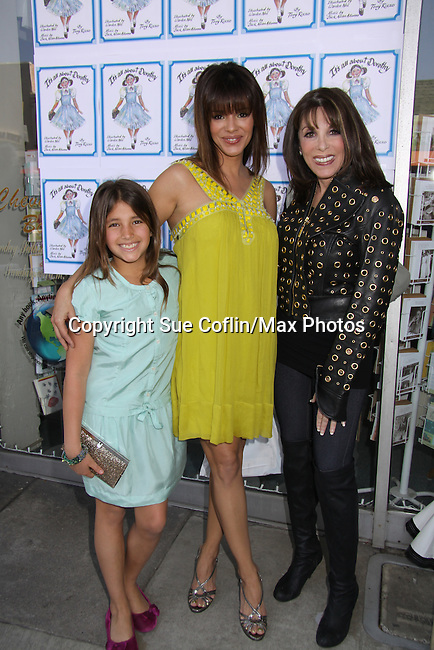 """Young and Restless, Gladise Ramirez """"Ramona"""" and daughter Simone and Kate Linder attend The Premiere Book Signing of """"It's All About Dorothy"""" - a wonderful new children's book and song which includes a cd telling the story of """"The Wizard of Oz"""" on April 10, 2011 at Chevalier's Books, Los Angeles, California. (Photos by Sue Coflin/Max Photos)"""