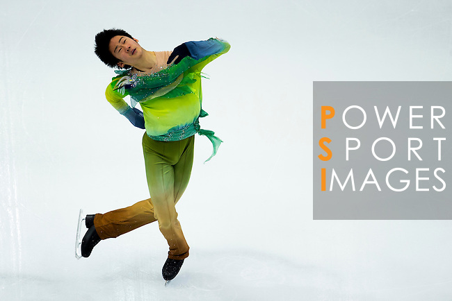 TAIPEI, TAIWAN - JANUARY 22:  Dong Won Lee of South Korea competes in the Men Short Program event during the Four Continents Figure Skating Championships on January 22, 2014 in Taipei, Taiwan.  Photo by Victor Fraile / Power Sport Images *** Local Caption *** Dong Won Lee