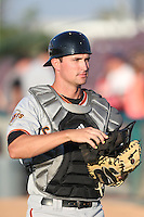 Jeff Arnold (21) of the San Jose Giants before a game against the Inland Empire 66ers at San Manuel Stadium on May 30, 2015 in San Bernardino, California. Inland Empire defeated San Jose, 6-4. (Larry Goren/Four Seam Images)
