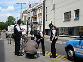 Metropolitan Police Stop and Search Suspect in Islington