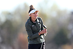 BROWNS SUMMIT, NC - APRIL 02: Colorado State's Brianna Becker tees off on the 15th hole. The third round of the Bryan National Collegiate Women's Golf Tournament was held on April 2, 2017, at the Bryan Park Champions Course in Browns Summit, NC.