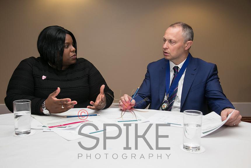 Lorna Reid of Business in the Community and President Mark Deakin