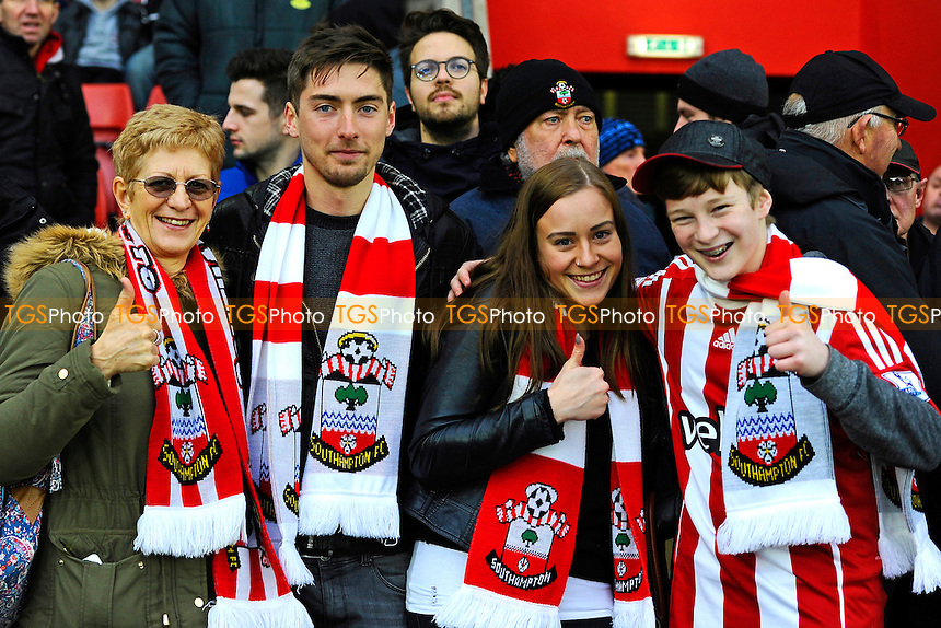 Southampton fans  during Southampton vs Crystal Palace at St Mary's Stadium