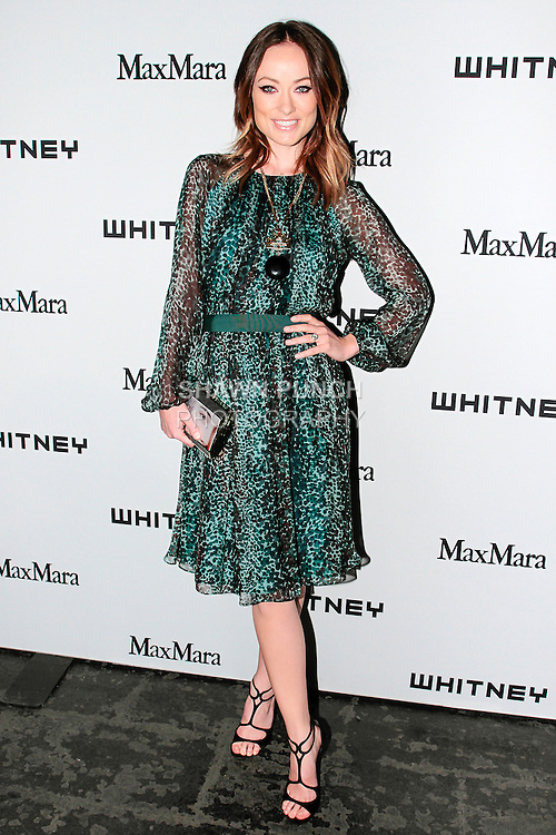Olivia Wilde attends the annual Whitney Art Party hosted by the Whitney Contemporaries, and sponsored by Max Mara, at Skylight at Moynihan Station on May 1, 2013.