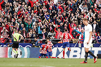 7th March 2020; Wanda Metropolitano Stadium, Madrid, Spain; La Liga Football, Atletico de Madrid versus Sevilla; Joao Felix (Atletico de Madrid)  celebrates his goal which made it (2,1)