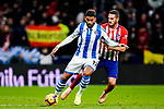Jorge Koke of Atletico de Madrid (R) in action against Willian Jose da Silva of Real Sociedad (L) during the La Liga 2018-19 match between Atletico de Madrid and Real Sociedad at Wanda Metropolitano on October 27 2018 in Madrid, Spain.  Photo by Diego Souto / Power Sport Images
