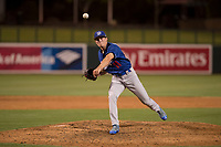 Los Angeles Dodgers relief pitcher Devin Hemmerich (11) during a Minor League Spring Training game against the Seattle Mariners at Camelback Ranch on March 28, 2018 in Glendale, Arizona. (Zachary Lucy/Four Seam Images)