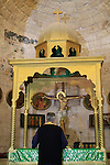 Israel, Jerusalem, the altar at the Greek Orthodox Church of the Holy Cross
