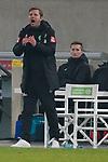 18.01.2020, Merkur Spielarena, Duesseldorf , GER, 1. FBL,  Fortuna Duesseldorf vs. SV Werder Bremen,<br />  <br /> DFL regulations prohibit any use of photographs as image sequences and/or quasi-video<br /> <br /> im Bild / picture shows: <br /> Florian Kohfeldt Trainer / Headcoach (Werder Bremen) steht regt sich heftig auf, Gestik, Mimik, unzufrieden / enttaeuscht / niedergeschlagen / frustriert, <br /> <br /> Foto © nordphoto / Meuter