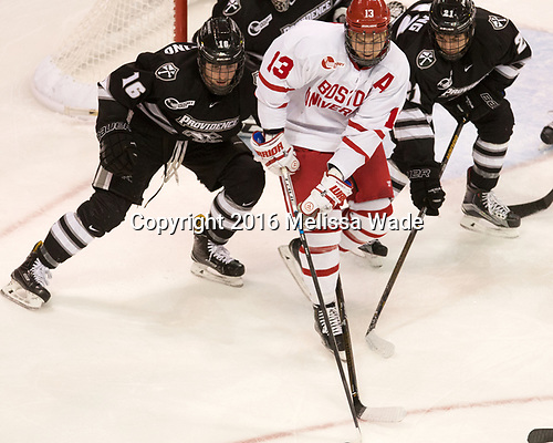 Anthony Florentino (PC - 16), Nikolas Olsson (BU - 13), Spencer Young (PC - 21) - The Boston University Terriers tied the visiting Providence College Friars 2-2 on Saturday, December 3, 2016, at Agganis Arena in Boston, Massachusetts.