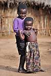 Children in Dofu, an area in northern Malawi which has been hit hard by drought and hunger.