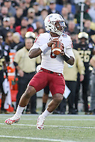 Annapolis, MD - December 27, 2016: Temple Owls quarterback Phillip Walker (8) in action during game between Temple and Wake Forest at  Navy-Marine Corps Memorial Stadium in Annapolis, MD.   (Photo by Elliott Brown/Media Images International)