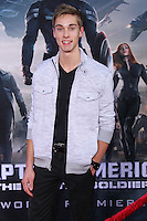 "HOLLYWOOD, LOS ANGELES, CA, USA - MARCH 13: Austin North at the World Premiere Of Marvel's ""Captain America: The Winter Soldier"" held at the El Capitan Theatre on March 13, 2014 in Hollywood, Los Angeles, California, United States. (Photo by Xavier Collin/Celebrity Monitor)"