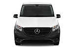 Car photography straight front view of a 2019 Mercedes Benz Vito Base 4 Door Cargo Van