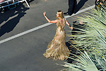 70eme Festival International du Film de Cannes. Montee de la ceremonie de cloture, vues du toit du Palais . 70th International Cannes Film Festival. Vew from rof top of closing red carpet<br /> <br /> Thurman, Uma