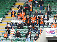 Blackpool fans enjoy the pre-match atmosphere <br /> <br /> Photographer Kevin Barnes/CameraSport<br /> <br /> The EFL Sky Bet League One - Plymouth Argyle v Blackpool - Saturday 15th September 2018 - Home Park - Plymouth<br /> <br /> World Copyright &copy; 2018 CameraSport. All rights reserved. 43 Linden Ave. Countesthorpe. Leicester. England. LE8 5PG - Tel: +44 (0) 116 277 4147 - admin@camerasport.com - www.camerasport.com