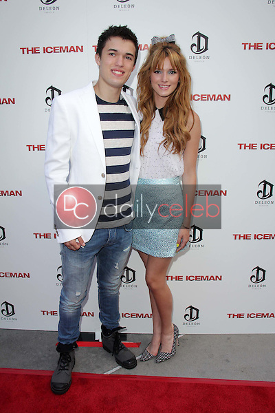 """Remy Thorne, Bella Thorne<br /> at """"The Iceman"""" Red Carpet, Arclight Theater, Hollywood, CA 04-22-13<br /> David Edwards/DailyCeleb.Com 818-249-4998"""
